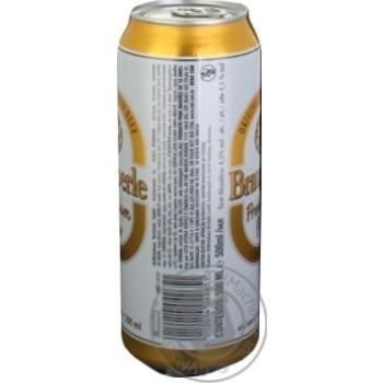 Пиво Брауперле Пилс светлое фильтрованное пастеризованное 4.5%об. железная банка 500мл Германия - купить, цены на Novus - фото 4