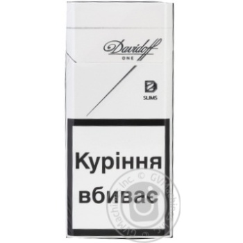 Davidoff One Slims cigarettes 20pcs 25g - buy, prices for Novus - image 1