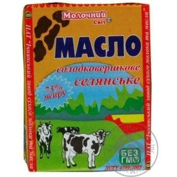 Butter Molochniy svit Peasant style cream sweet cream 73% 200g - buy, prices for MegaMarket - image 1