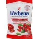 Леденцы Verbena Шиповник с витамином С 60г