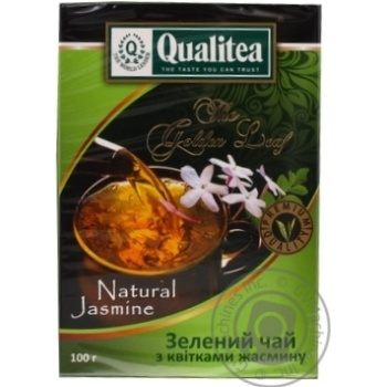 Чай Кволіті з квітками жасміну зелений 100г