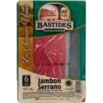 Ham Bastides pork raw cured 100g France