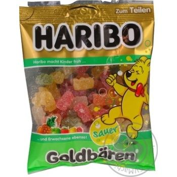Цукерки Haribo Золоті ведмедики зі смаком кислих фруктів жувальні 200г