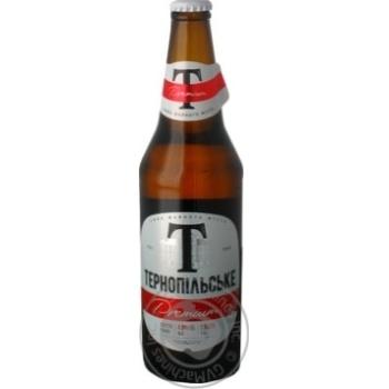 Пиво Тернопільське Premium світле 4.5% 0,5л