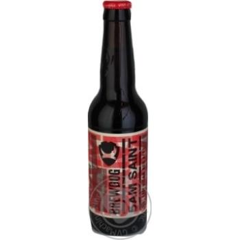 Пиво BrewDog 5AM Saint янтарное 0,33л