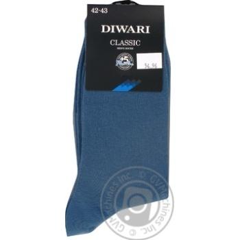Носки мужские DiWaRi Classic 000 джинс р.27 пара - купить, цены на МегаМаркет - фото 1
