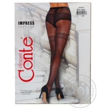 Колготки жіночі Conte Elegant Fantasy Impress 20 den розмір 2, nero - купити, ціни на Novus - фото 3