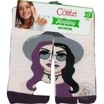 Шкарпетки жін. бавовняні HAPPY 17С-21СП. р.25. 133 абрикос-фіоле