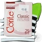 Sock Conte Classic cotton for women Belarus