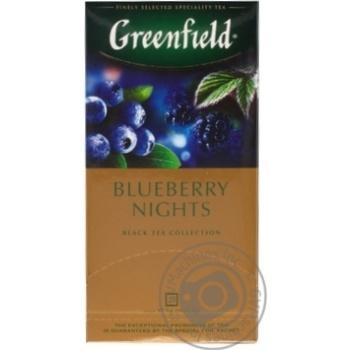 Чай черный Greenfield Blueberry Nights 25шт*1,5г 37,5г - купить, цены на Novus - фото 5