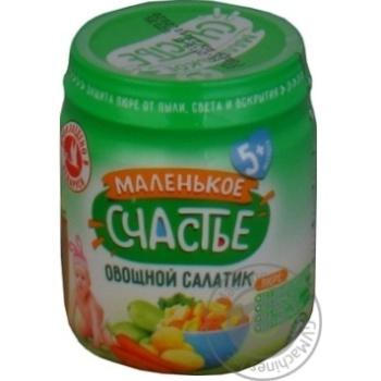 Скидка на Пюре Маленькое счастье овощной салатик 90г
