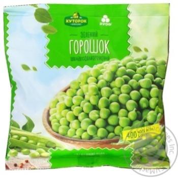 Vegetables pea Khutorok selianskij green canned 400g packaged - buy, prices for Furshet - image 2