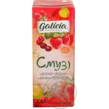 Смузі Galicia Вишня-полуниця 0,2л - купити, ціни на Ашан - фото 3