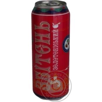 Напиток Золотоношский сбитень Яблоко-Клюква сброженный газированный ж/б 5% 0.5л