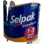 Рушник кухонний білий Maxi Selpak Comfort