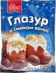 Глазурь Деко со вкусом ванили 75г