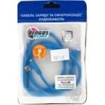 Dengos Charging and Sync Cable Micro-USB corner connectors (NTK-M-UG-SET-BLUE)