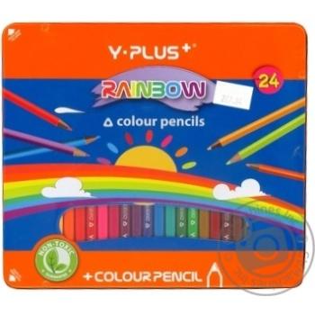 Олівці Y PLUS 24 кольори металева коробка
