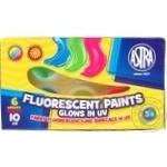 Astra Fluorescent Gouache Paints 6 Colors 10ml