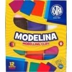 Моделіна Astra 12 кольорів 304110001