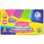 Моделіна Astra флуоресцентна Astra 6 кольорів