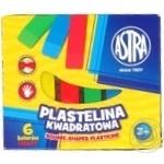 Astra Square Plasticine 6 Colors