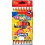 Олівці кольорові Colorino двосторонні 12шт 24 кольори