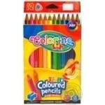 Олівці кольорові трикутні JUMBO 175 см 12 кол. чинка COLORINO