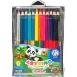 Олівці кольорові Astra Astrino з точилкою 12шт 24 кольорів