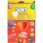 Олівці кольрові Cool for school Extra Soft 18 кольорів