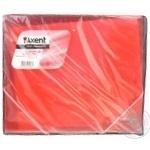 Папка Axent на резинках прозрачная красная В5