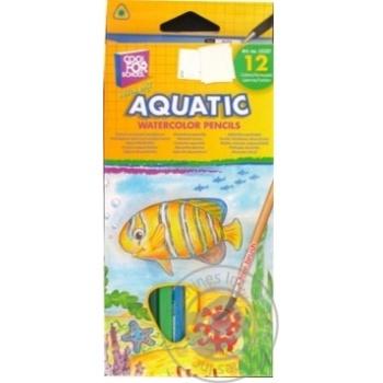 Олівці акварельні Cool for school Aquatic Extra Soft 12 кольорів - купити, ціни на Метро - фото 1