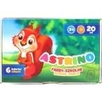 Краски Astrino гуашевые школьные 6 цветов 20мл