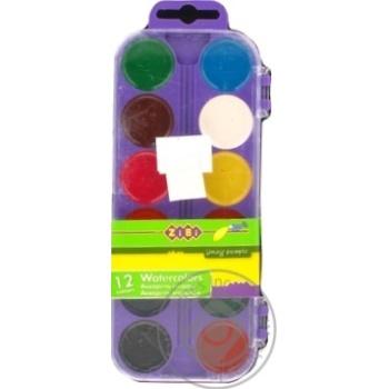 ZiBi Watercolor Paints 12 Colors - buy, prices for CityMarket - photo 8
