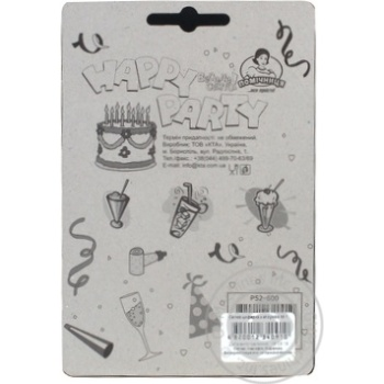 Свічки для торту Помічниця циферка з клоуном 1, 8см - купити, ціни на Novus - фото 2