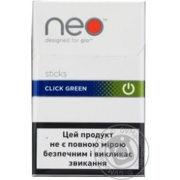 СТІКИ NEO STICKS CLICK GREEN