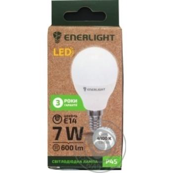 Лампа Enerlight світлодіодна P45 7Вт 4100K E14