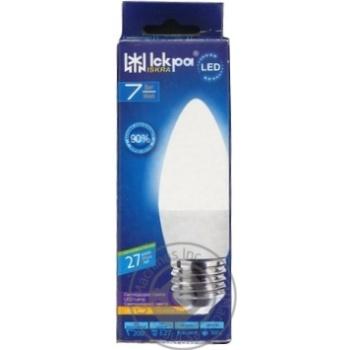 Лампа LED Lamp Іскра C37 220В 7Вт 4000K E27