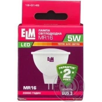 Лампа ELM Led MR16 5W PA10 GU5.3 3000 18-0145