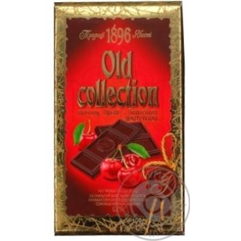 Шоколад Бисквит-Шоколад Old Collection горький с вишневыми кусочками 62% 200г