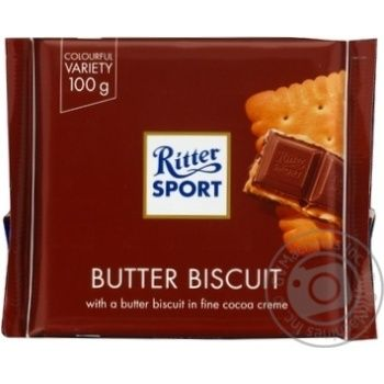 Ritter Sport With Cookies Chocolate 100g - buy, prices for Novus - image 1