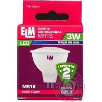 Лампа ELM Led MR16  3W PA10 GU5.3 4000 120гр. 18-0044