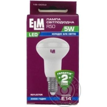 Лампа ELM Led R50 5W PA10 E14 4000 18-0052