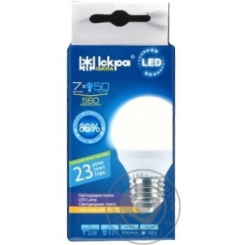 Лампа LED Lamp Іскра G45 220В 7Вт 3000K E27 - купить, цены на Novus - фото 1