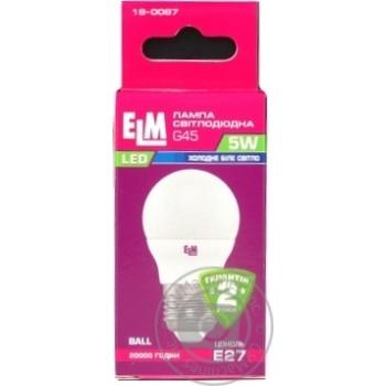 Лампа ELM Led сфера  5W PA10 E27 4000 D45 18-0087