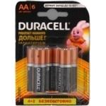 Батарейка DURACELL Basic AA 1.5V LR6  4+2шт