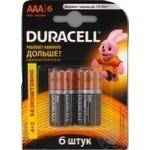 Батарейка DURACELL Basic AАA 1.5V LR03  6шт