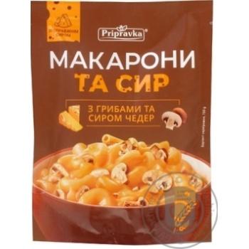 Макарони та сир Pripravka з грибами та сиром чедер 150г