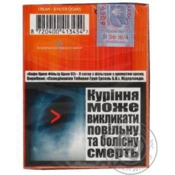 """Сигари CAFE CREME FILTER 03 CREAM8"""" - купить, цены на Novus - фото 2"""