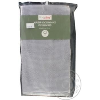 Полотенце Home Line кухонное махровое 40х60см 2шт